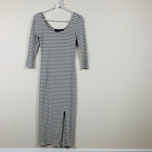 Woman's striped dress